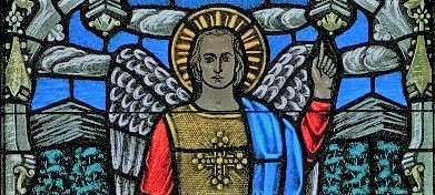 St Michael the Archangel stained glass cropped